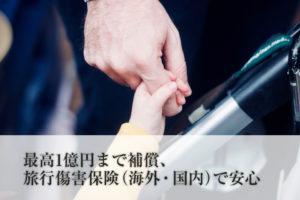 最高1億円まで補償、旅行傷害保険(海外・国内)で安心